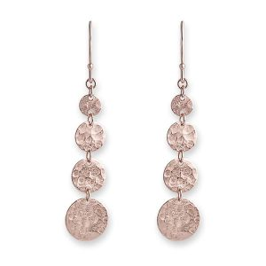 Bianc Rose Gold Jingle Hook Earrings