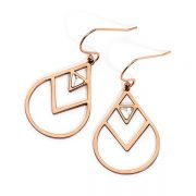 Pastiche Breaking Dawn Rose Gold Steel Earrings with Howlite