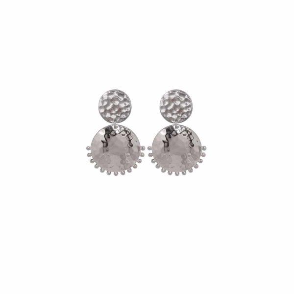 Murkani Tribal Stud Earrings in Sterling Silver 1