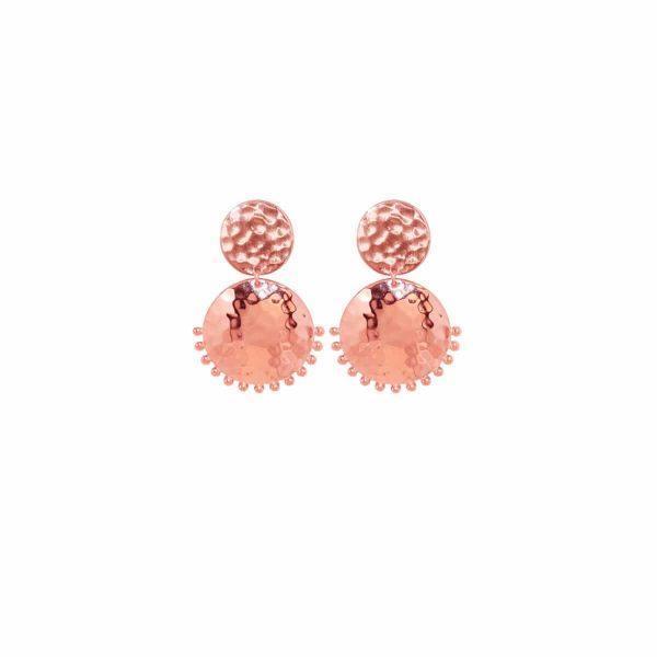Murkani Tribal Stud Earrings in Rose Gold 1